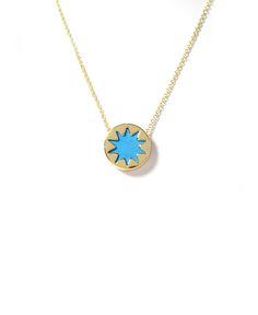 House of Harlow Teal Mini Sunburst Pendant Necklace | South Moon Under