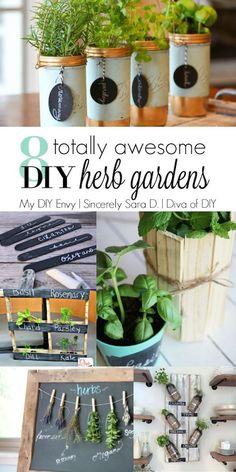 Talk DIY to Me Link Party #2 and 8 DIY Herb Garden Ideas