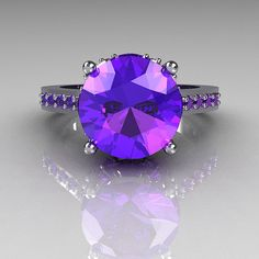 Classic+Bridal+14K+White+Gold+30+Carat+Purple+by+artmasters,+$849.00