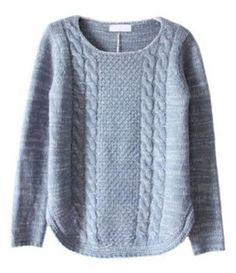 Cable knit with round hem