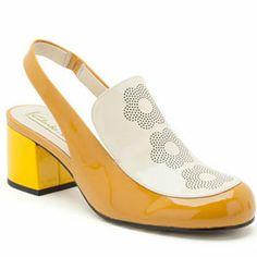London Store [Orla Kiely Muriel Shoe - Mustard&Cream]