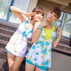 Modest Women's Swimwear | ... women-s-pretty-modest-tankini-bikini-swimsuit-swimwear-monokini