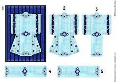 A6 Pearl Passion Kimono Card in Blue Decoupage