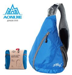 US $12.17 AONIJIE New Men Women Shoulder Triangle Sports Backpack Collapsible Water Repellent Nylon Sport Climbing Bag