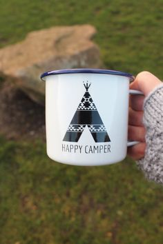 Happy Camper Enamel