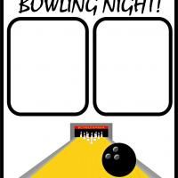 Bowling night! Free Printable #Scrapbooking!