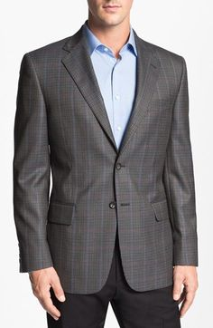 Joseph Abboud 'Signature Silver' Check Wool Sportcoat available at #Nordstrom