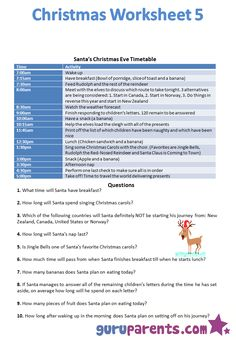 Fill In a Letter to Santa  Comprehension A letter and Households