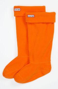 orange socks for rain boots