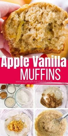 How to make the best ever Apple Muffins, a delicious apple cinnamon muffin recipe made with coconut sugar, cinnamon, whole wheat flour and coconut oil, for a lighter, healthy apple muffin recipe the whole family will love. A great recipe for kids to help make, too!