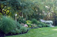 Worlds End - traditional - landscape - boston - Amy Martin Landscape Design Modern Landscape Design, Landscape Edging, Traditional Landscape, Modern Landscaping, Backyard Landscaping, Sloped Landscape, Landscaping Ideas, Backyard Ideas, Landscaping Borders