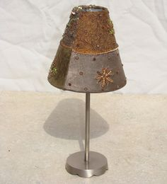 Vintage / Velvet / Candle Holder / Tea Light. $22.00, via Etsy.
