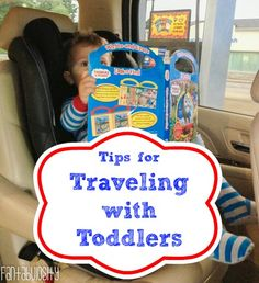 Tips for traveling with toddlers! A great list, and other awesome toddler tips and tricks from this momma!