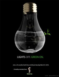 Fine ad creating awareness about the earth hour through a poignant image that brings out a strong message.