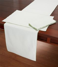 Green:Southern Living Striped Seersucker Table Linens
