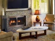 Islas fireplace coffee table