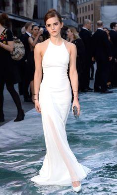 Emma Watson in Ralph Lauren Collection at the London premiere of Noah, 2015 - HarpersBAZAAR.co.uk
