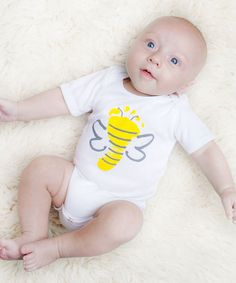 Take a look at this White Bumblebee Jason Bodysuit - Infant today!
