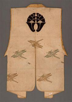 Jimbaori (samurai over-armor vest), century, Japan. Japanese Textiles, Japanese Prints, Japanese Design, Japanese Kimono, Japanese Art, Costumes Japan, Costume Ethnique, Kabuki Costume, Memento Mori