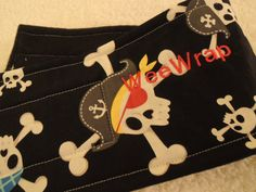 Dog Diaper Belly Band, Stop Marking with WeeWrap, Pirate, Personalized