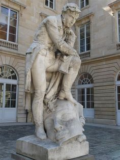 Frédéric-Auguste Bartholdi  (1834-1904) - Jean - François  Champollion - Collège  de France - Paris - France