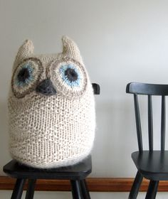 Whit's Knits: Big Snowy Owl! by the purl bee, free pattern