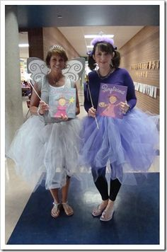 Character dress up day Purplicious and Silverliciousr Book Costumes, Book Week Costume, Dress Up Costumes, Adult Costumes, Costume Ideas, Diy Costumes, Literary Costumes, Clever Costumes, Woman Costumes