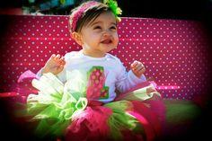 Watermelon Wonderland Super Fluff Birthday Set- Includes tutu, shirt and matching bow- $35.95, via Etsy.