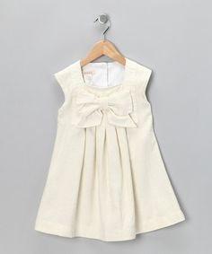 Ivory Harp Linen-Blend Dress - Toddler by Cavelle Kids on #zulily #cutiestyle