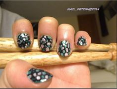 "NAIL_FETISH@2014 ""MOSAIC"" NAILS - FREEHAND WITH DOTTING TOOL - 4 COLORS #CHINAGLAZE #SECHEVITE"