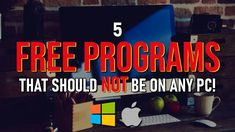 5 FREE PROGRAMS That Should NEVER Be On ANY PC! - YouTube Remote Control Software, Microsoft Project, Mobile Security, Computer Tips, Home Network, Employee Engagement, Live Events, Web Browser, Video Editing
