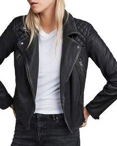 eeb586674c99 AllSaints Cargo Quilted Leather Biker Jacket