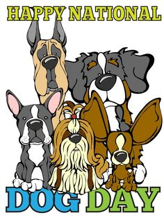 Happy National Dog Day.  Celebrate with a FREE COLORING PAGE. http://angrysquirrelstudio.com/downloads/coloring-national-dog-day.pdf