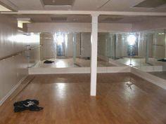 very DIY-able basement dance studio