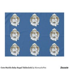 Cute Marble Baby Angel Tablecloth