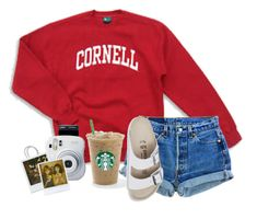 """Untitled #184"" by lhnlila on Polyvore featuring Levi's, Fujifilm, Birkenstock and Polaroid"