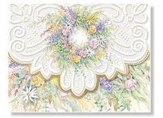 Carol Wilson Spring Wreath Note Card Portfolio