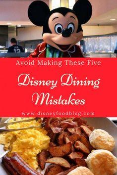 Avoid Making These Five BIG Disney world Dining Mistakes Disney World Food, Disney World Restaurants, Disney World Florida, Walt Disney World Vacations, Disney Travel, Disney Parks, Disney Worlds, Disney Usa, Disneyland Vacations