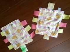 Baby blanket mini with ribbons set of two by GeeGeeGoGo on Etsy