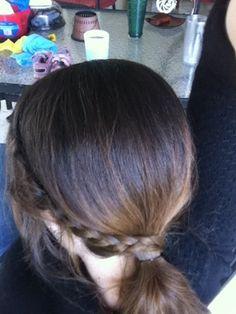 How to:  Mini Side French Braid Side Pony Wrap.  Easy!