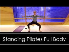 STANDING PILATES: FULL BODY WORKOUT (Gliders or Towel & Dumbbells) - YouTube