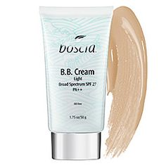 Boscia BB cream in a light shade! boscia - B.B. Cream Light Broad Spectrum SPF 27 PA++   #sephora