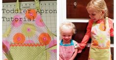 zasterka do kuchyne Ordinary Lovely: Toddler Apron Tutorial Childrens Apron Pattern, Child Apron Pattern, Childrens Aprons, Sewing Projects For Beginners, Sewing Tutorials, Sewing Hacks, Sewing Crafts, Sewing Patterns, Sewing Tips