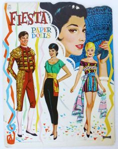 Fiesta Paper Dolls / Saalfield #1360.  Virtually identical to Cha Cha Cha PDs.