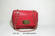 2016 Spring Mulberry Lily Shoulder Bag in Red Croc Leather