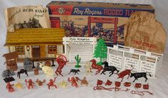 Marx Roy Rogers Rodeo Ranch 3990 playset. Circa 1953. ~ My favorite, favorite toy of all time.
