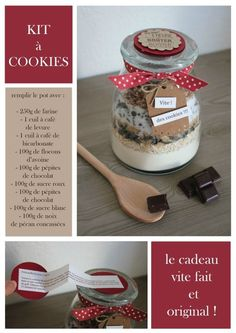 Christmas Gift Ideas 2019 : SOS Cookies - Cook & Gift If you are greedy and creative, I imagine that you already think of the creations that you will Kit Cookies, Cookies Et Biscuits, Christmas Cookies, Christmas Diy, Homemade Christmas, Fingers Food, Comida Diy, Gifts For Cooks, Mason Jar Gifts