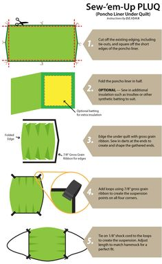 How to make a sewn Poncho Liner hammock Under Quilt