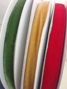Velvet ribbons Noel Christmas, Velvet Ribbon, Grosgrain Ribbon, Ribbons, Merry Little Christmas, Bias Tape