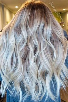 Try platinum blonde hair shade if you want to stand out from the crowd. This color is so eye-catching. See our collection of platinum blonde looks.